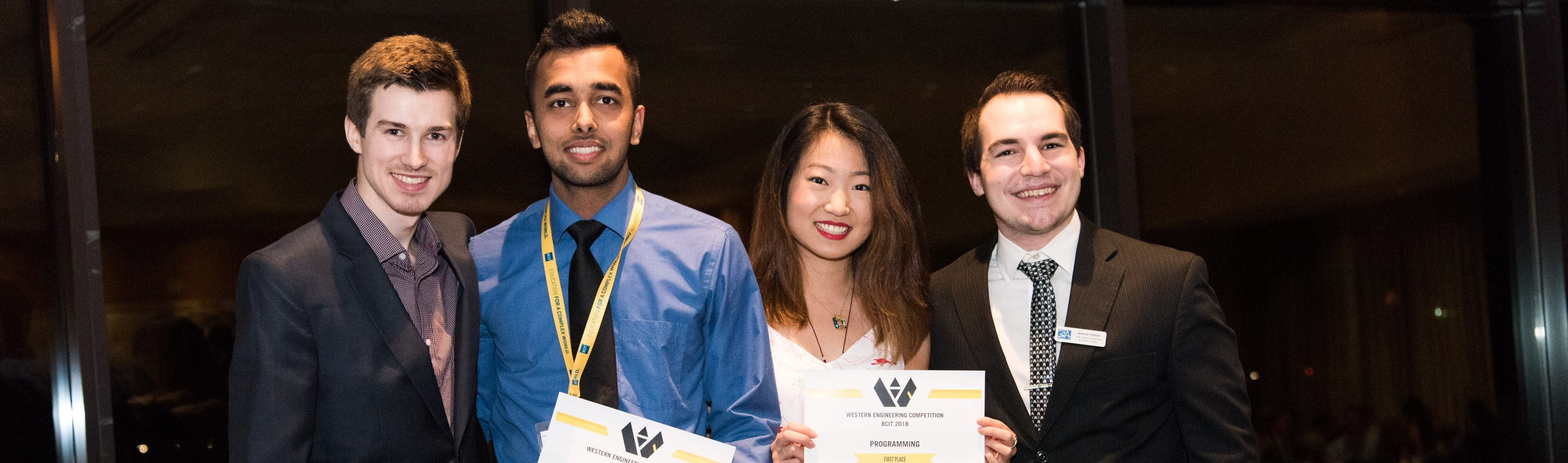 L - R:  Anthony Ydenberg (WEC2018 Chair), Navjashan Singh, Jenny Yang, Spencer Pollock (Director of Programming)