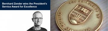 Bernhard Zender wins President's Service Award for Excellence